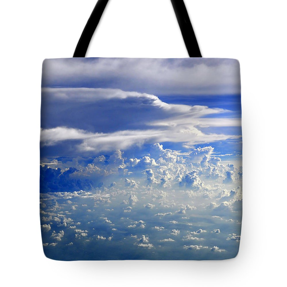 Clouds Tote Bag featuring the photograph Within Clouds by Bliss Of Art