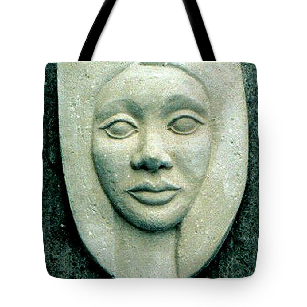 Relief Tote Bag featuring the relief Without Veils by Madalena Lobao-Tello