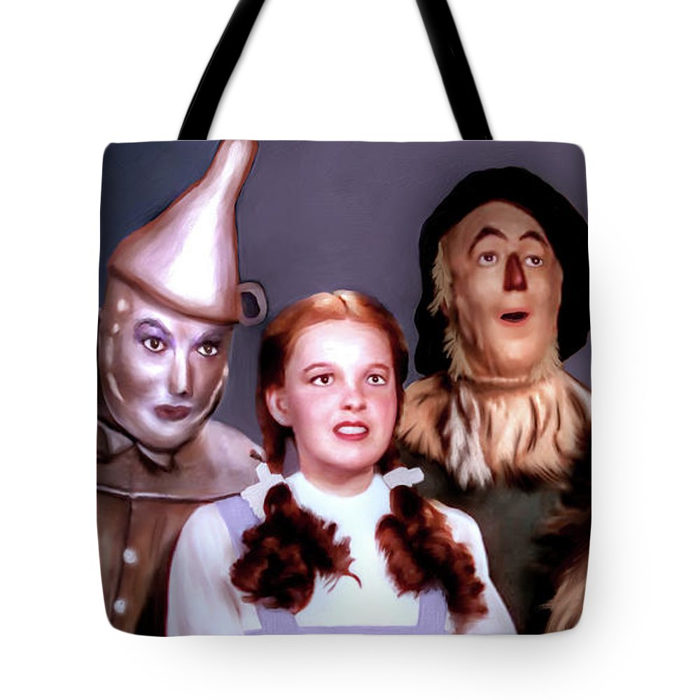 Wizard Of Oz Tote Bag featuring the digital art Wizard Of Oz by Pennie McCracken