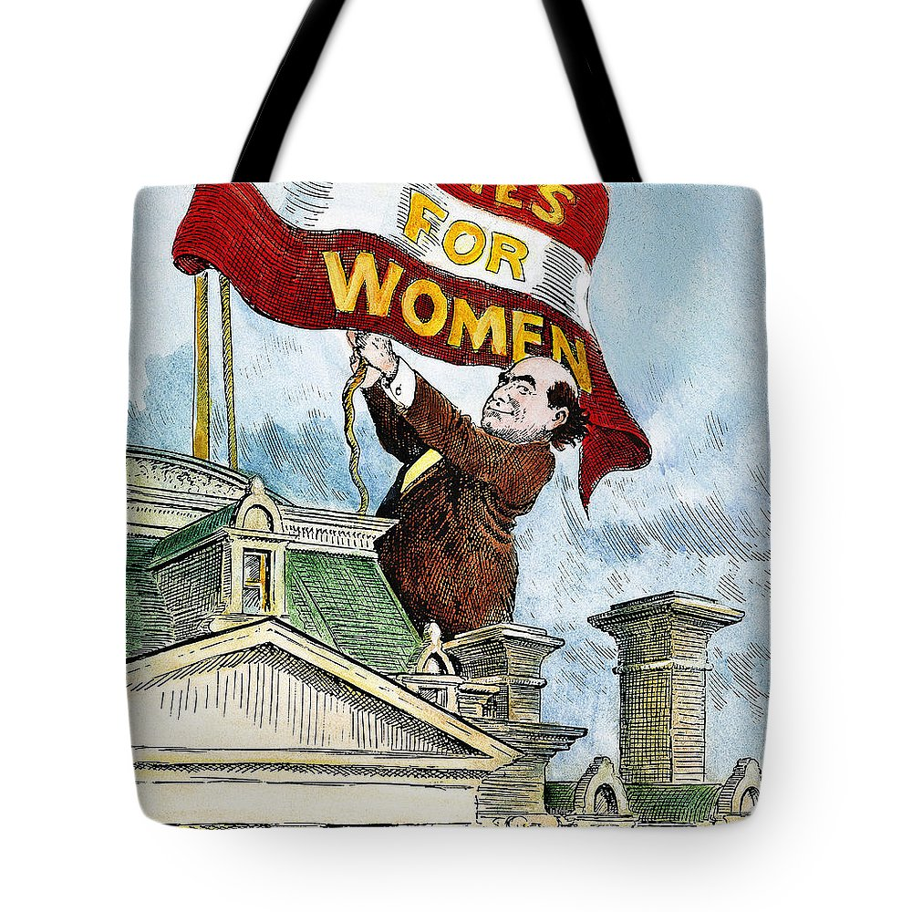1915 Tote Bag featuring the photograph W.j. Bryan Cartoon, C1915 by Granger