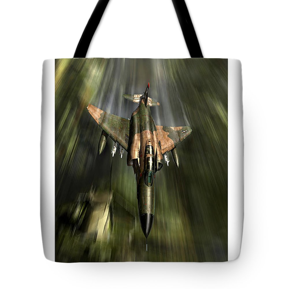 War Tote Bag featuring the digital art Wolfhound Rhino by Peter Van Stigt