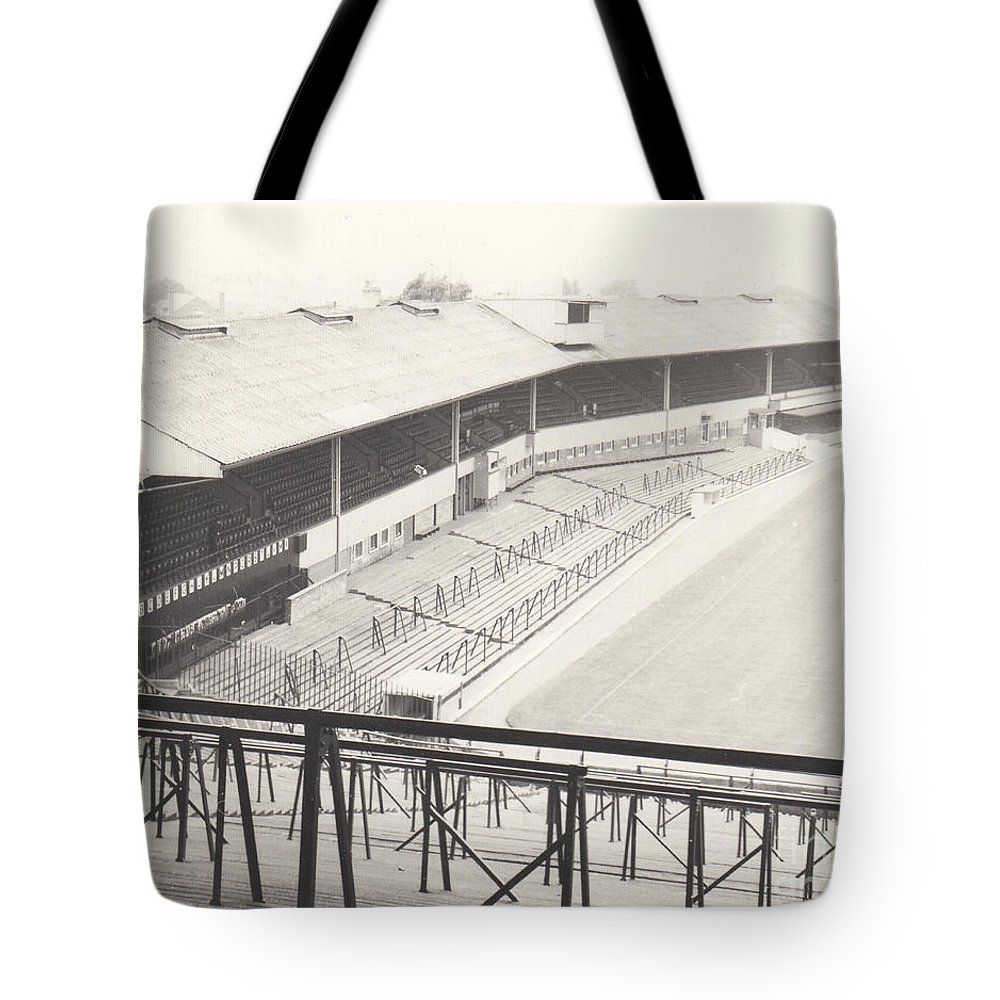 Tote Bag featuring the photograph Wolverhampton - Molineux - Waterloo Road Stand 1 - Bw - Leitch - September 1968 by Legendary Football Grounds