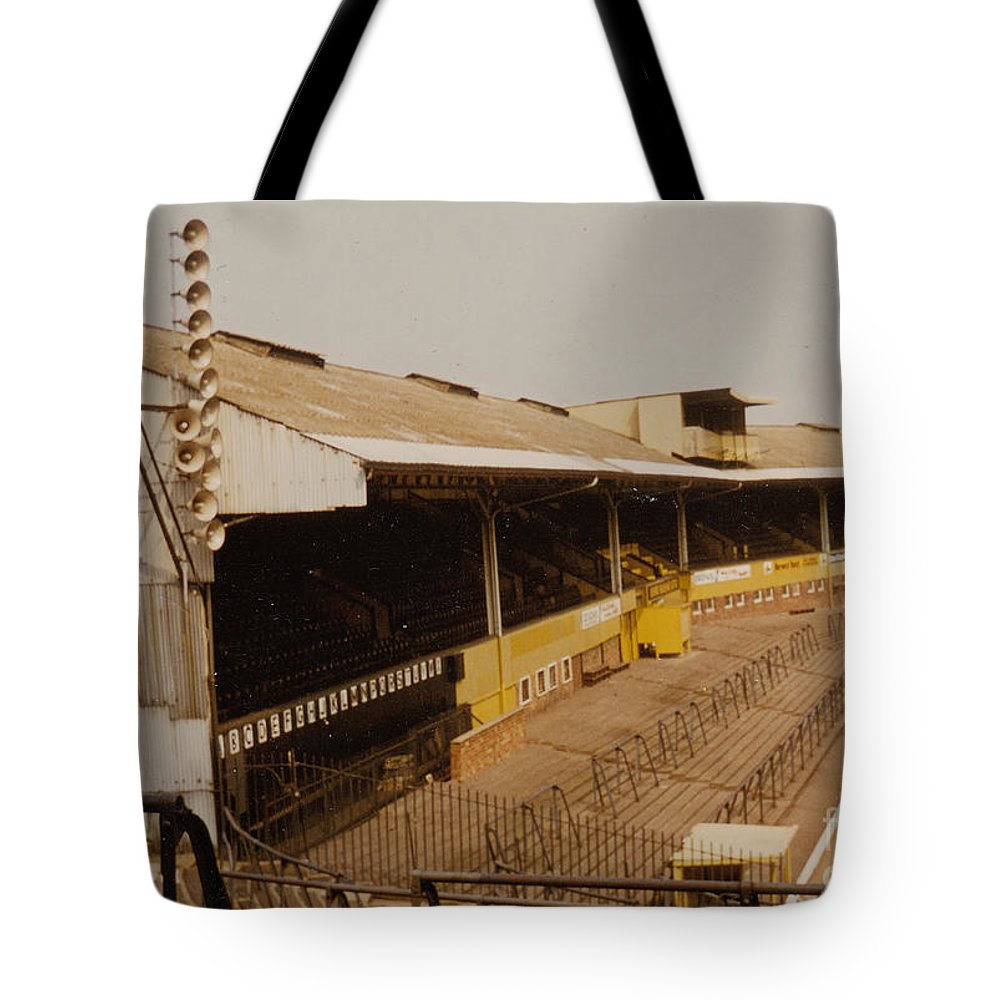 Tote Bag featuring the photograph Wolverhampton - Molineux - Waterloo Road Stand 2 - Leitch - 1970s by Legendary Football Grounds