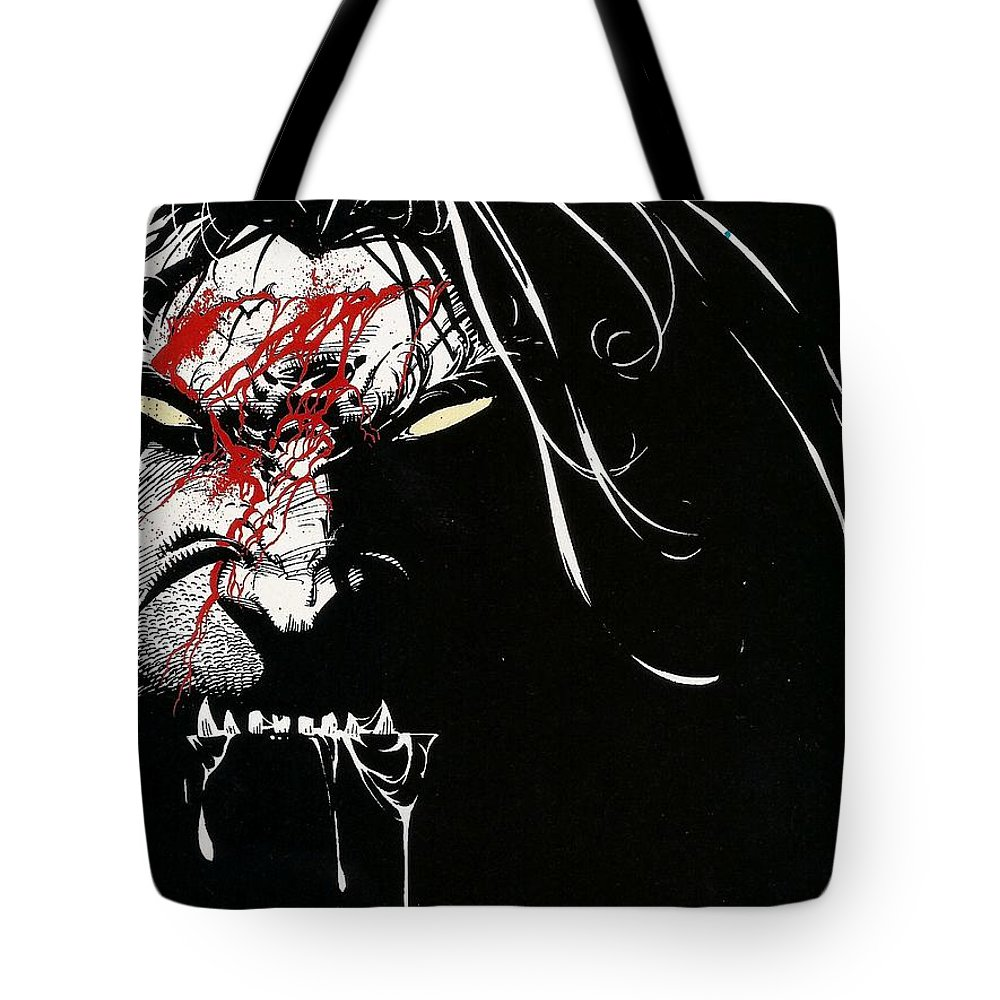 Wolverine Tote Bag featuring the digital art Wolverine by Maye Loeser