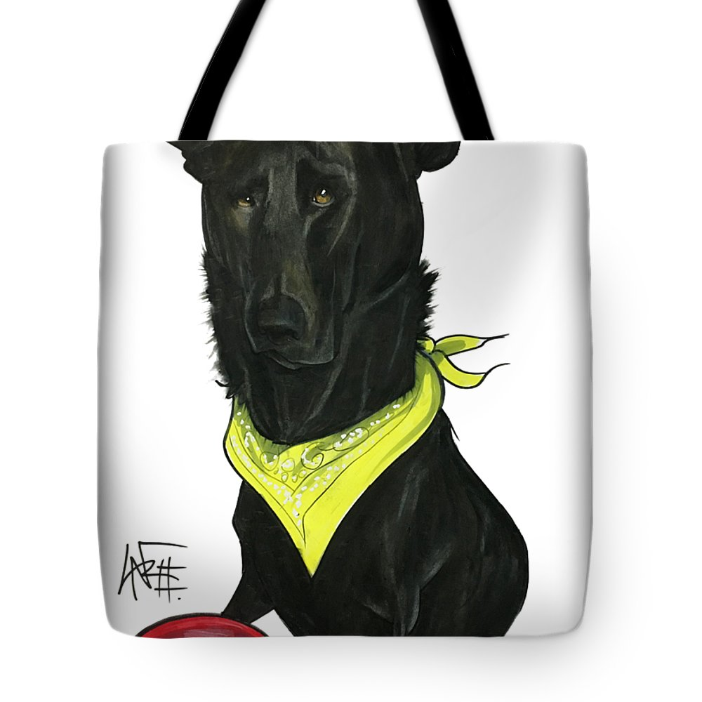 Pet Portrait Tote Bag featuring the drawing Womack 3291 Charlie by John LaFree