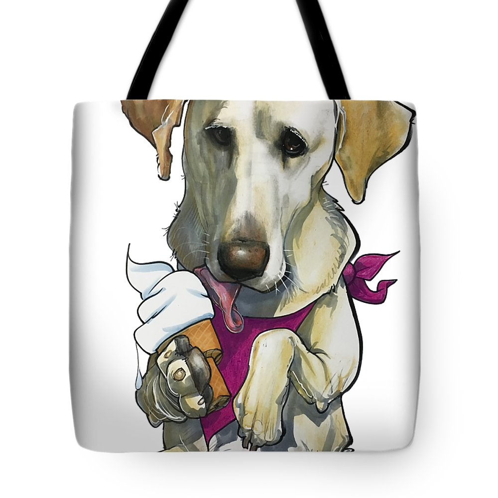Pet Portrait Tote Bag featuring the drawing Womack 3291 Trina-k by John LaFree