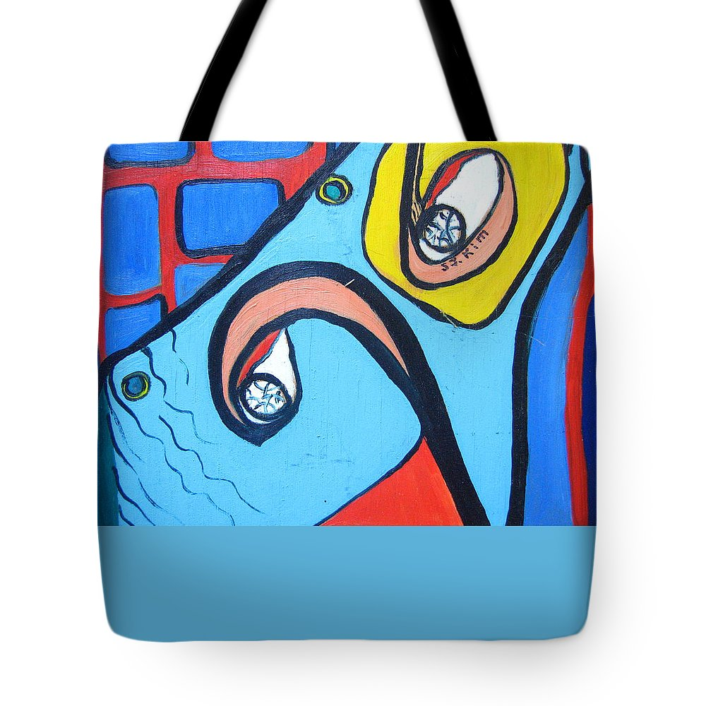 Woman Paintings Tote Bag featuring the painting Woman13 by Seon-Jeong Kim