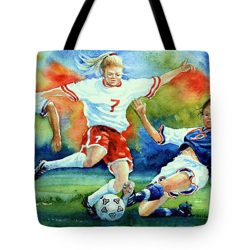 Sports Art Tote Bag featuring the painting Women by Hanne Lore Koehler