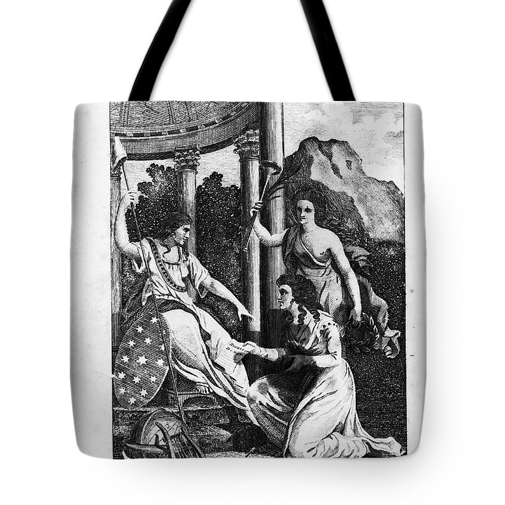 1792 Tote Bag featuring the photograph Womens Rights, 1792 by Granger