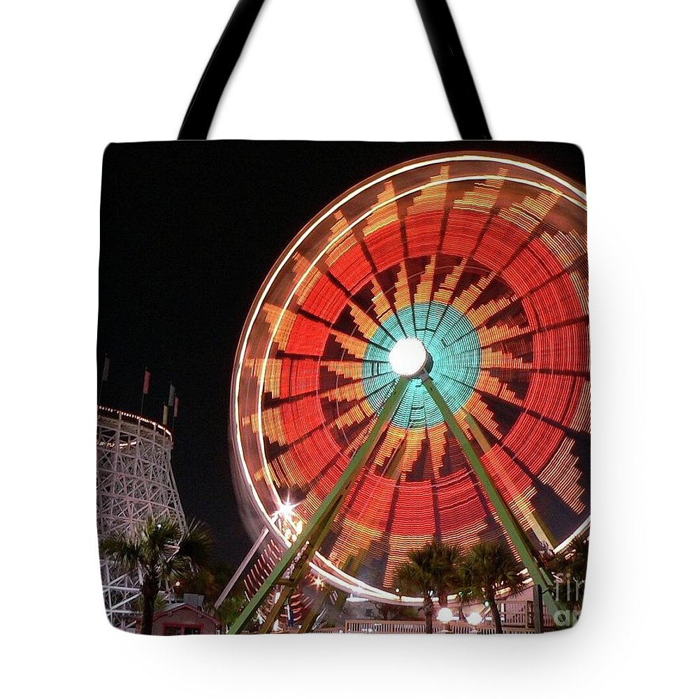 Ferris Wheel Tote Bag featuring the photograph Wonder Wheel by Al Powell Photography USA