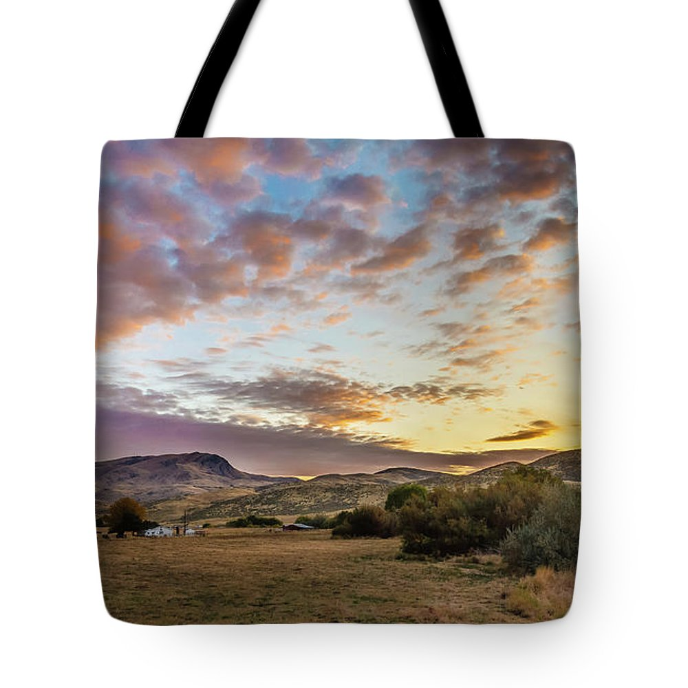 Gem County Tote Bag featuring the photograph Wonderful Morning by Robert Bales