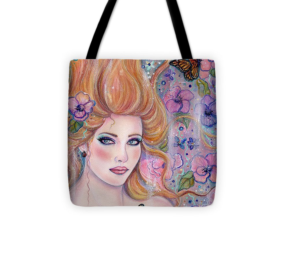 Wonderland Tote Bag featuring the painting Wonderland by Renee Lavoie