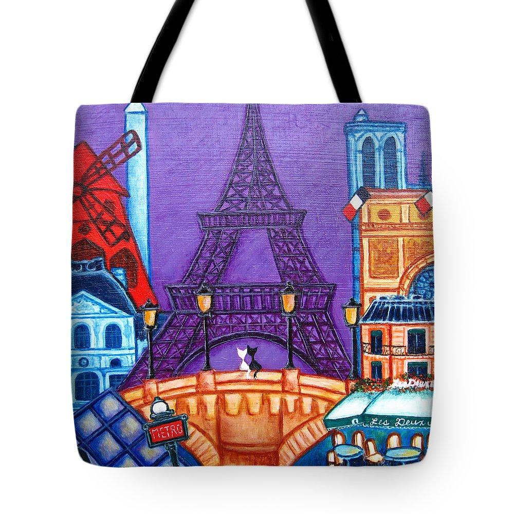 Paris Tote Bag featuring the painting Wonders of Paris by Lisa Lorenz