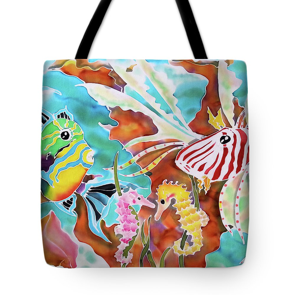 Bahamas Art Tote Bag featuring the painting Wonders Of The Sea by Tiff