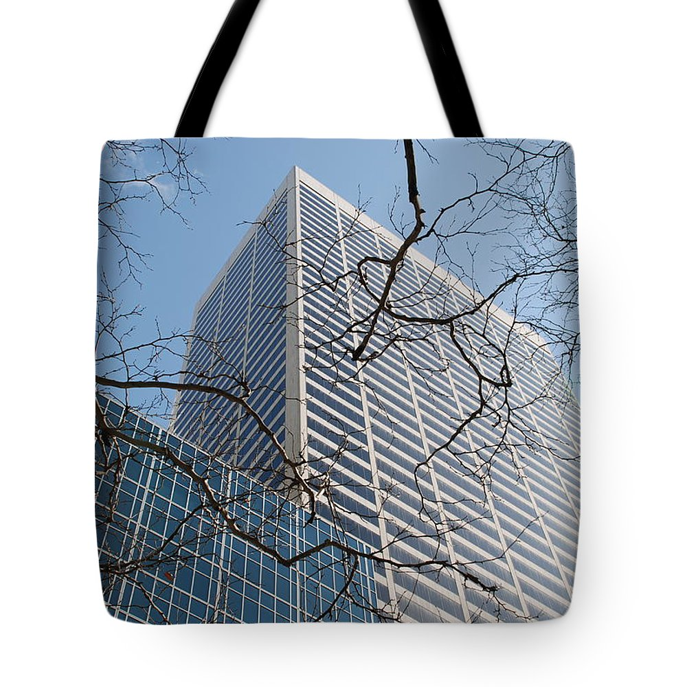 Architecture Tote Bag featuring the photograph Wood And Glass by Rob Hans