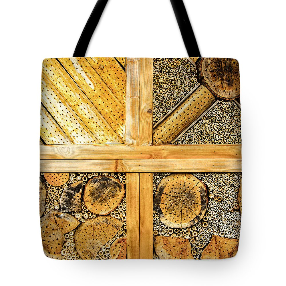 Insect Tote Bag featuring the photograph Insect Hotel #1 by Adriana Zoon