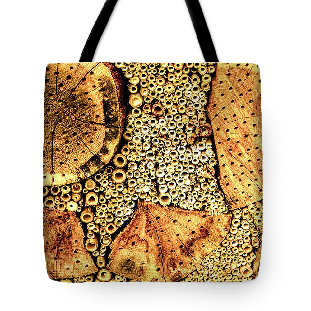 Insect Tote Bag featuring the photograph Insect Hotel #2 by Adriana Zoon