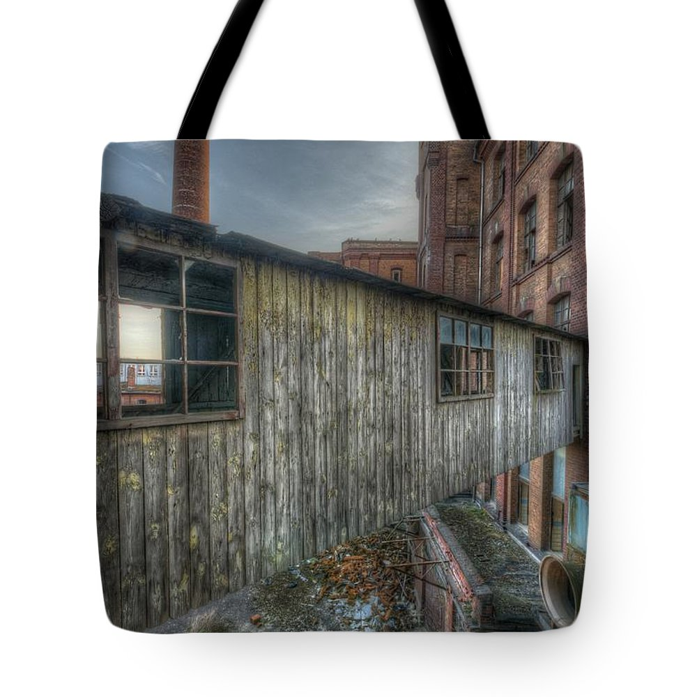 Urebx Tote Bag featuring the digital art Wood Bridge by Nathan Wright