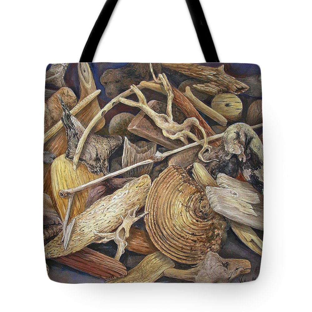 Driftwood Tote Bag featuring the painting Wood Creatures by Valerie Meotti