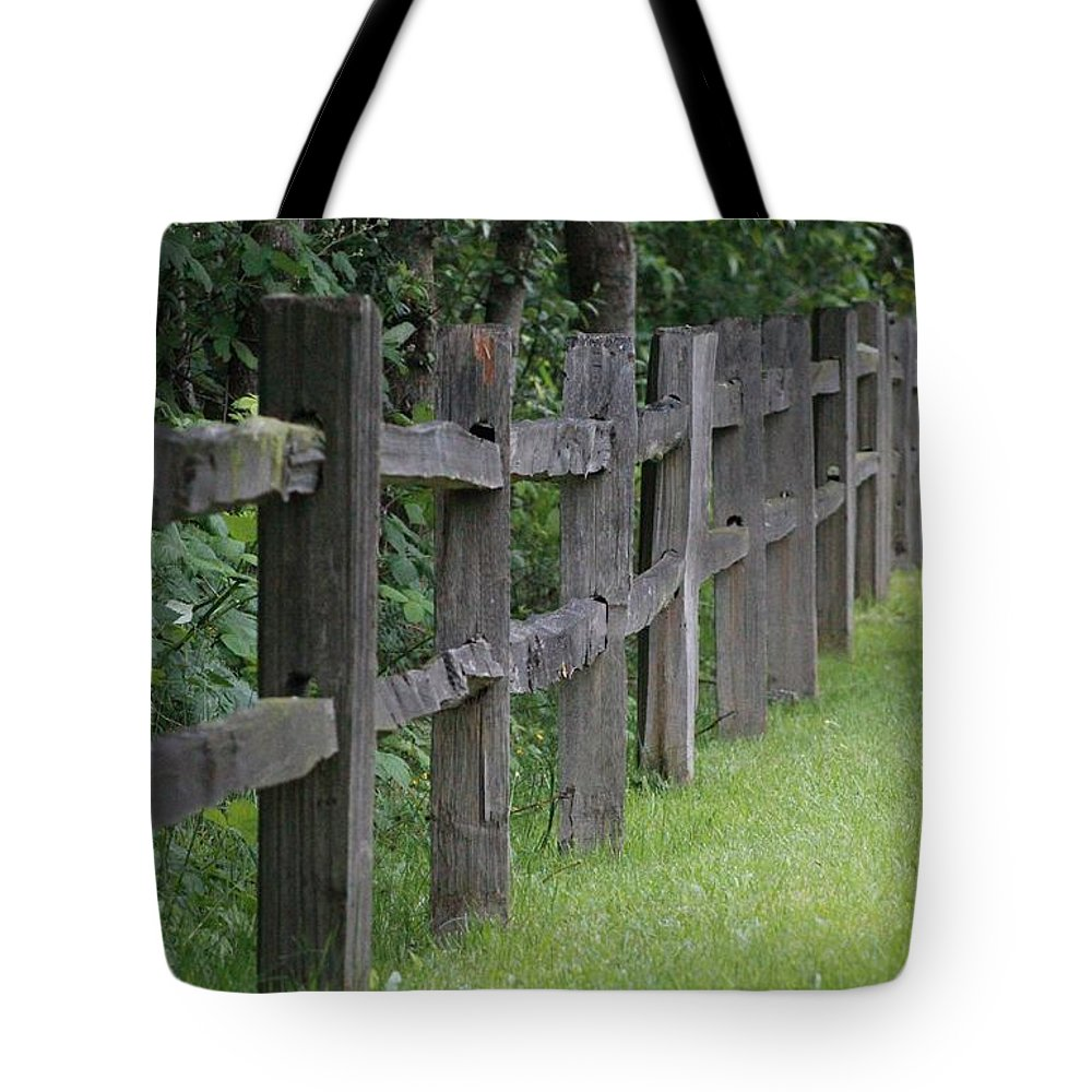 Wood Tote Bag featuring the photograph Wood Fence by Roger Ulm