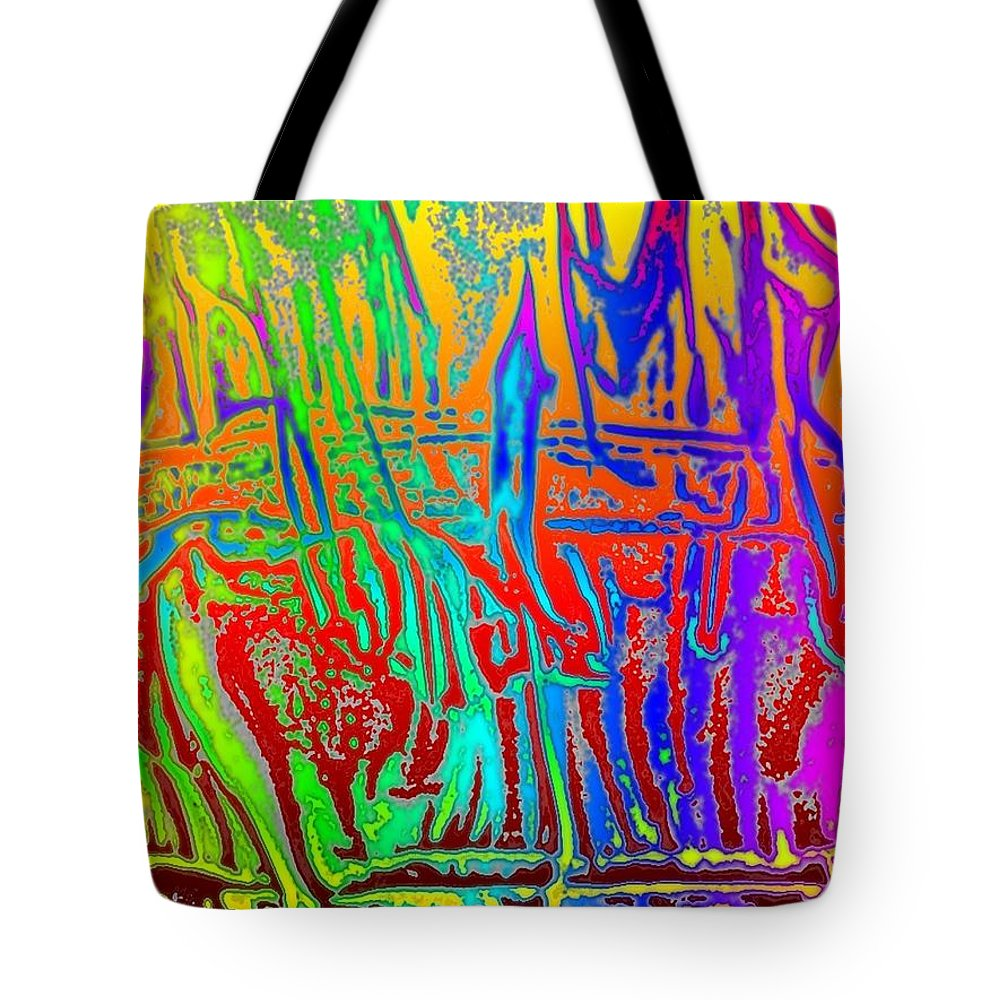 Wood Tote Bag featuring the photograph Wood Fire Rainbow by Tim Allen