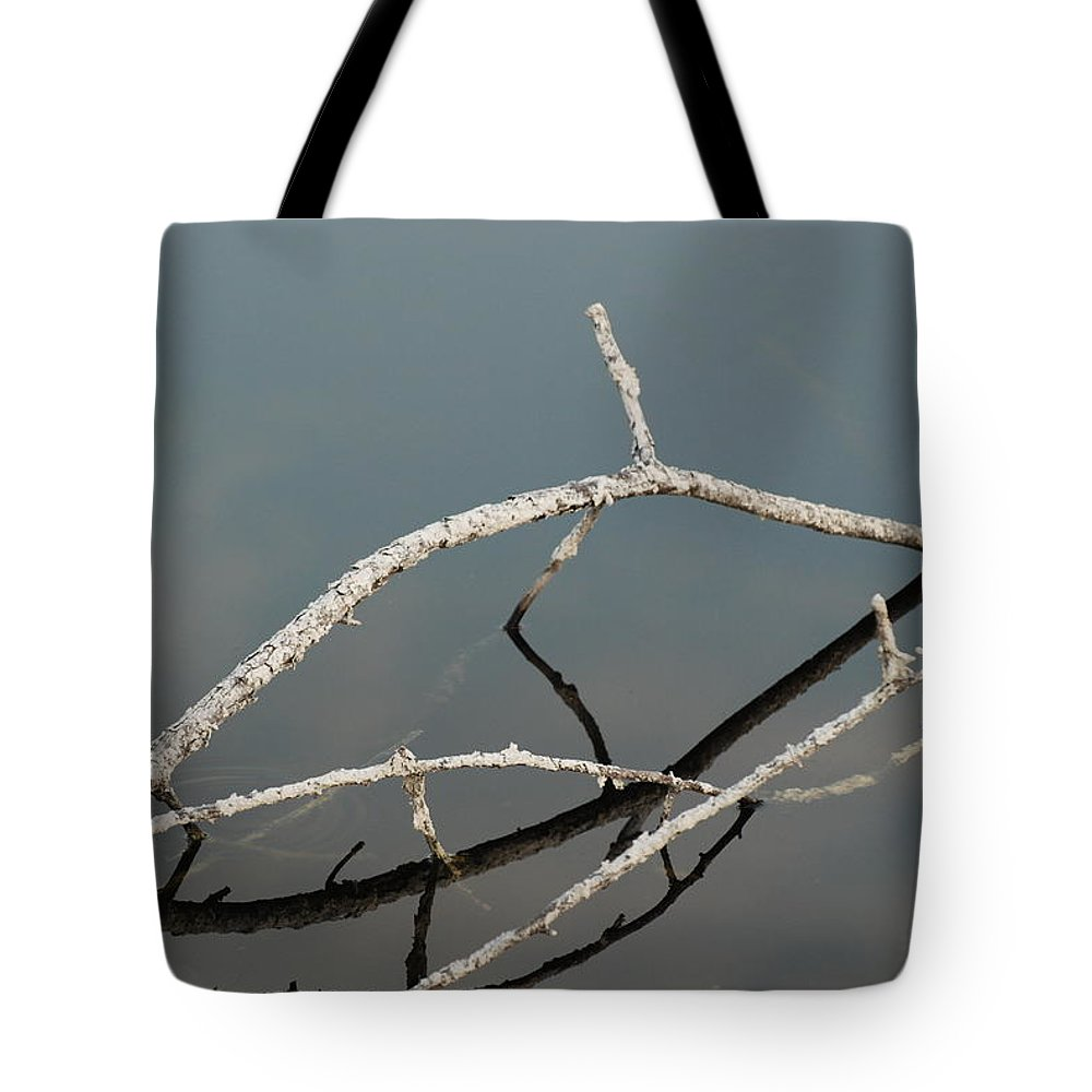 Blue Tote Bag featuring the photograph Wood In The Water by Rob Hans