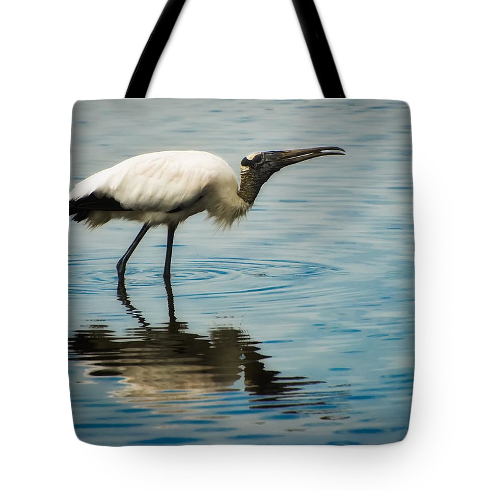 Stork Tote Bag featuring the photograph Wood Stork by Rich Leighton