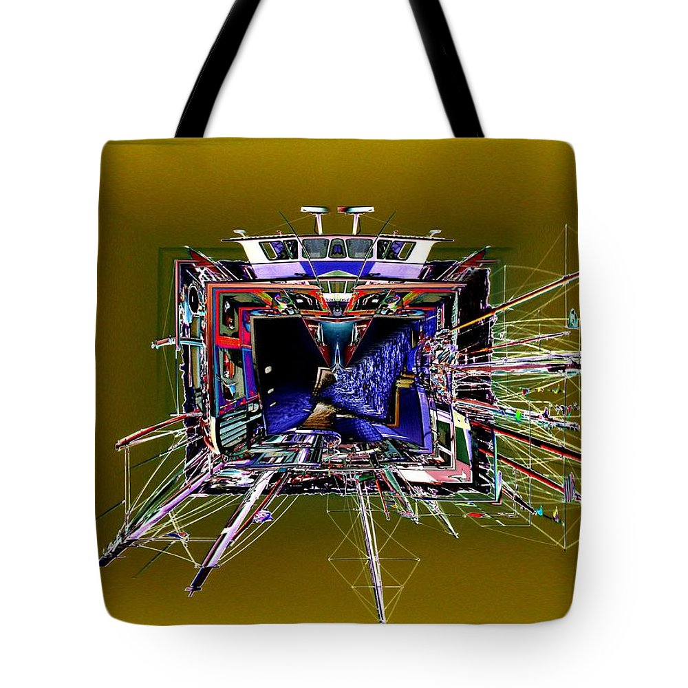 Seattle Tote Bag featuring the photograph Wooden Boat Vortex by Tim Allen