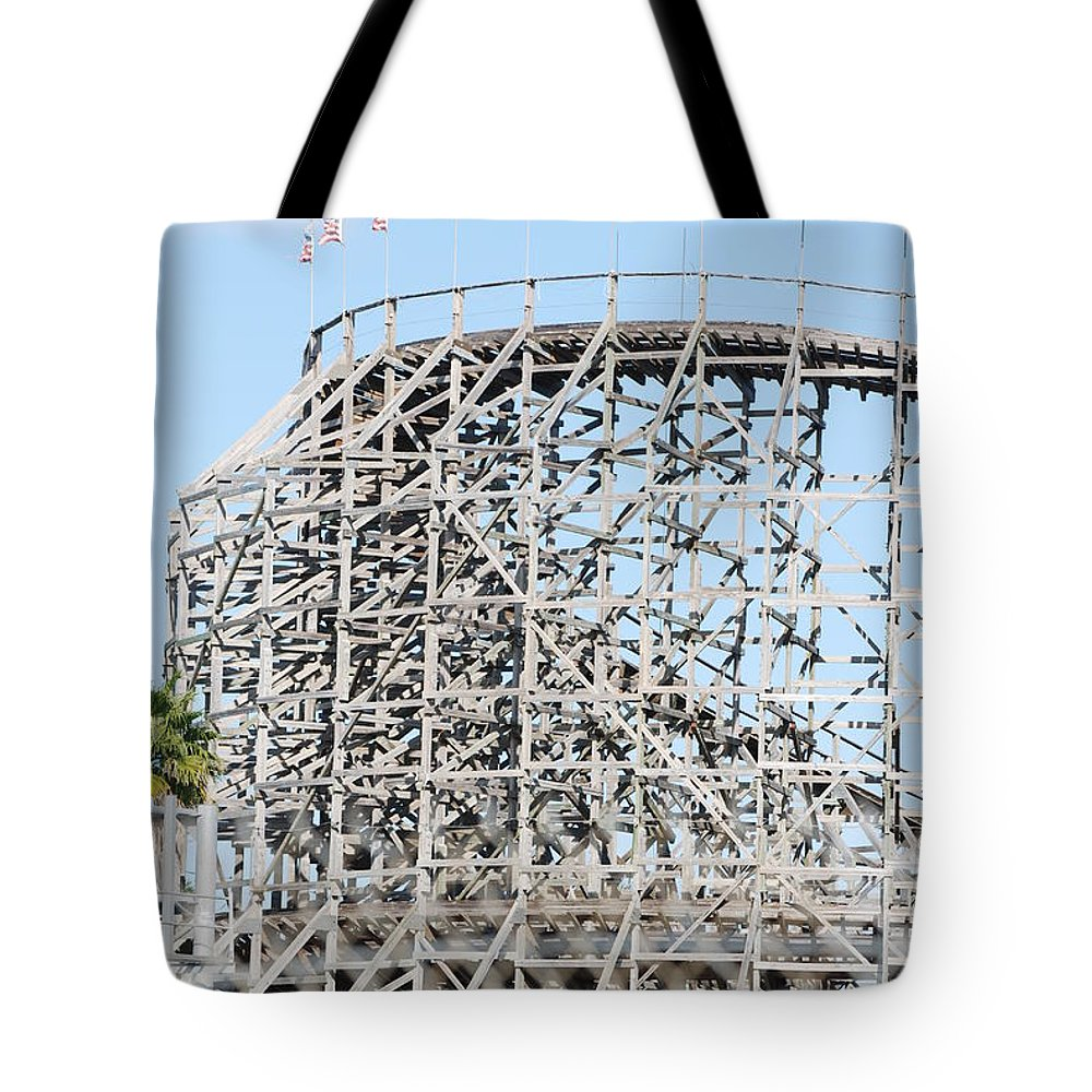 Pop Art Tote Bag featuring the photograph Wooden Coaster by Rob Hans
