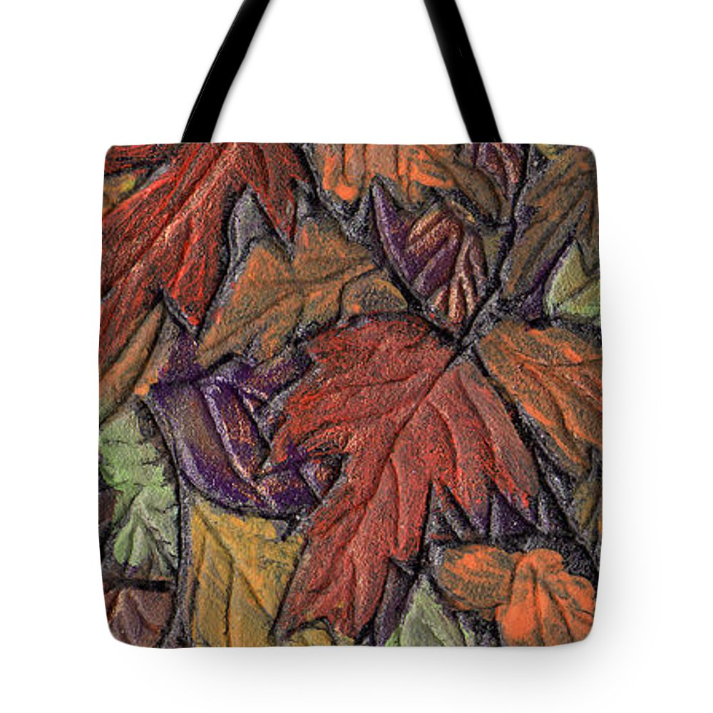 Autumn Tote Bag featuring the painting Woodland Carpet by Wayne Potrafka