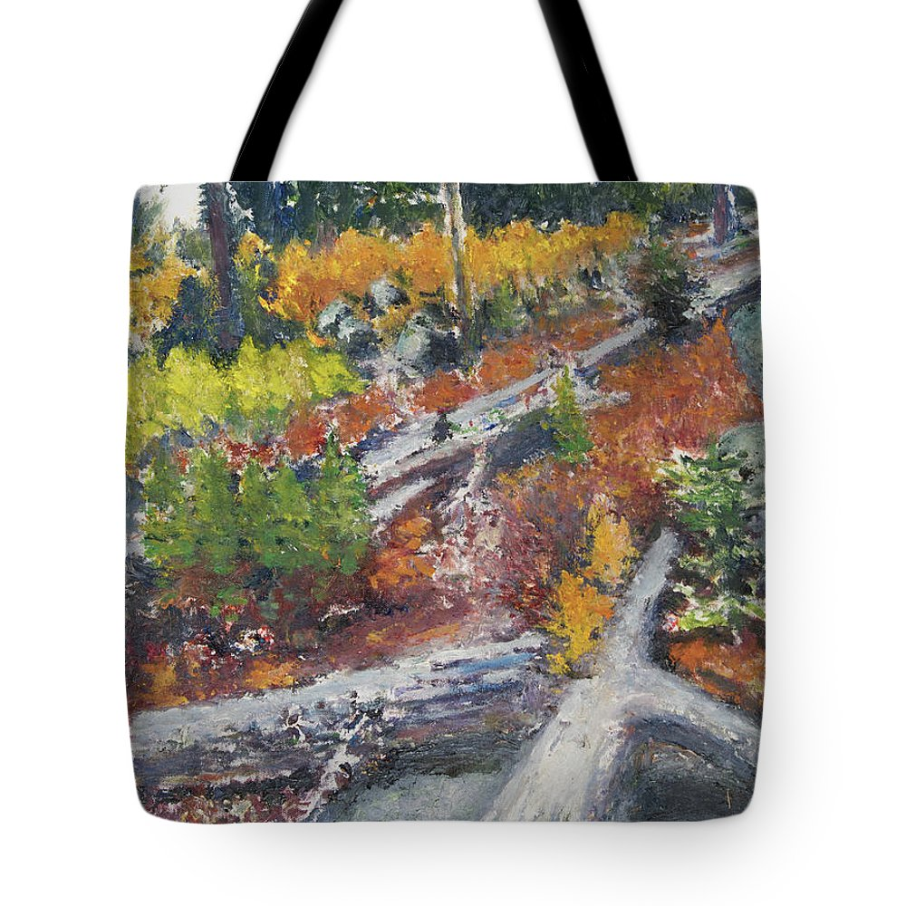 Pacific Northwest Tote Bag featuring the painting Woodland by Craig Newland