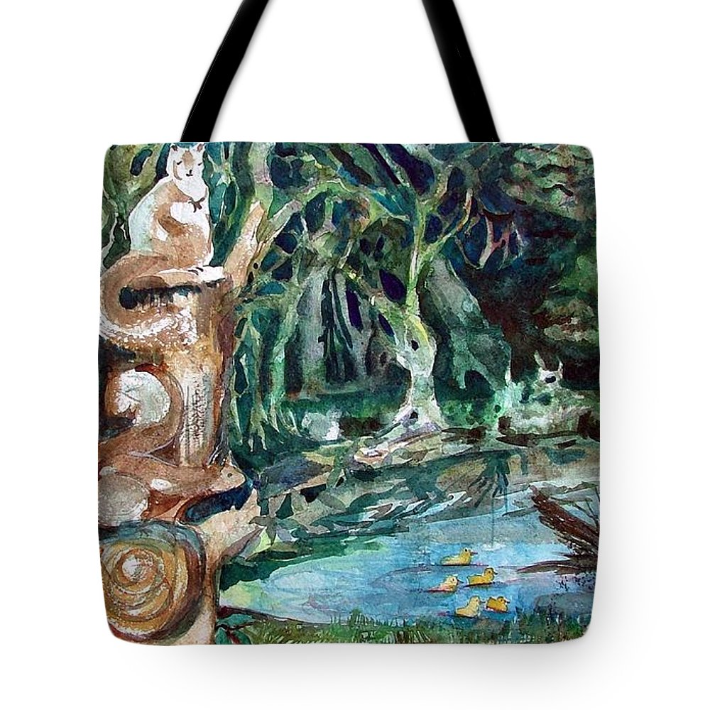 Squirrels Tote Bag featuring the painting Woodland Critters by Mindy Newman