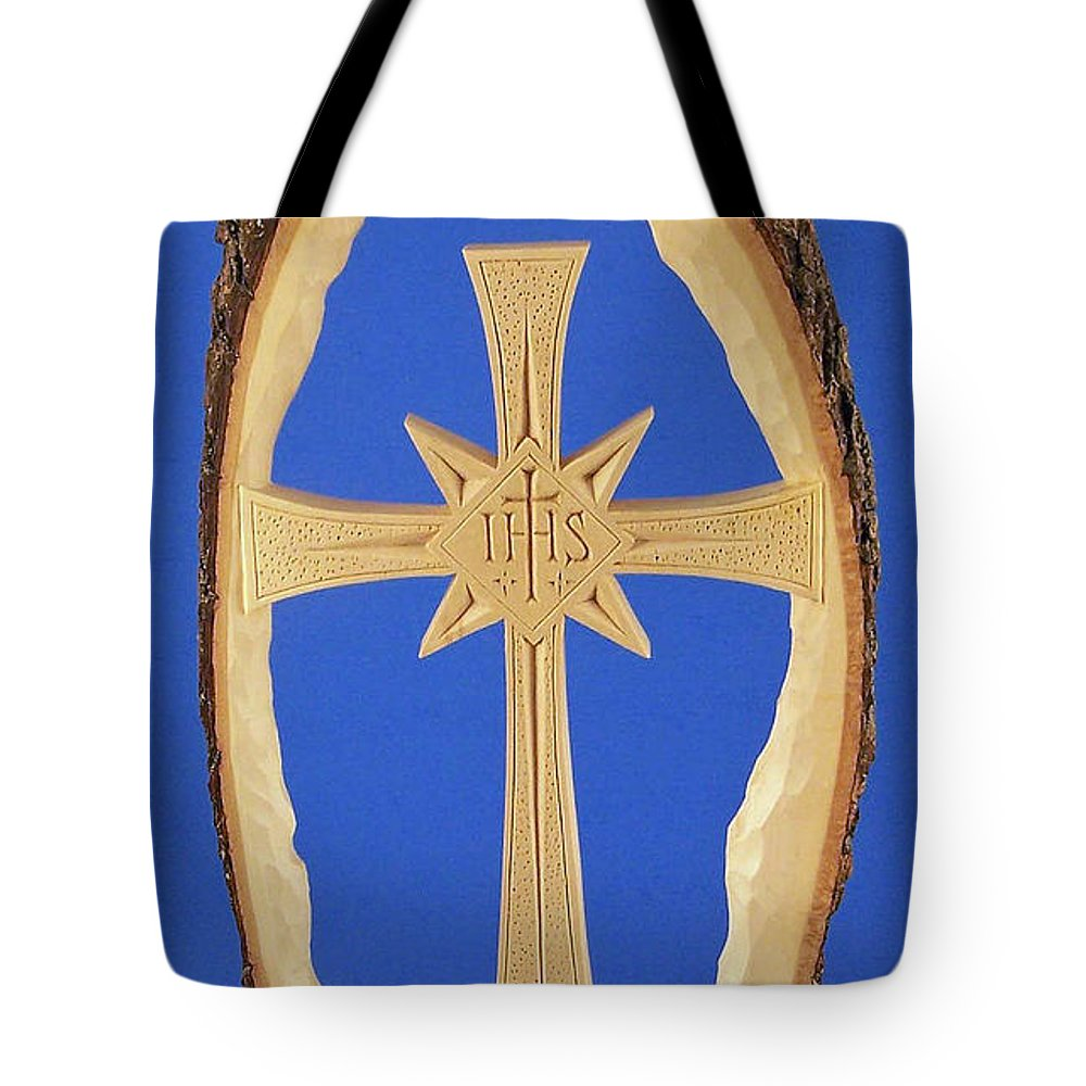 Woodland Cross Tote Bag featuring the photograph Woodland Cross by James Pinkerton
