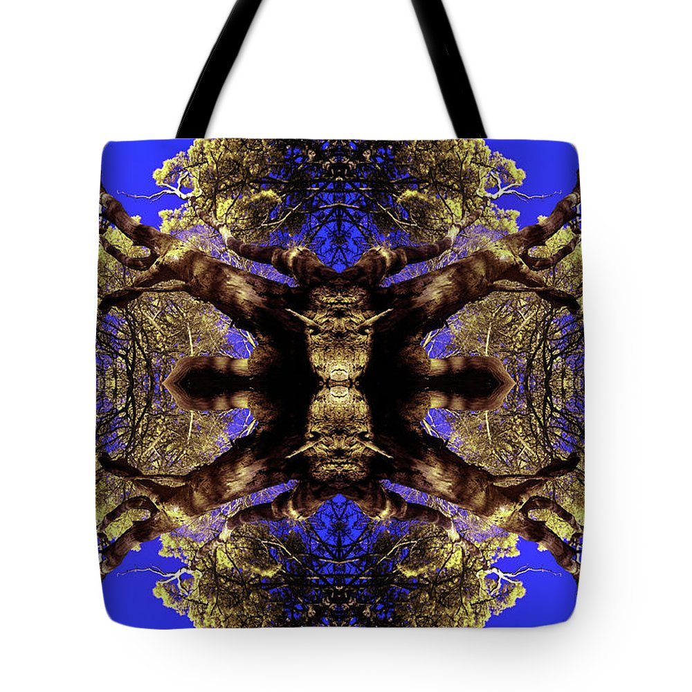 Pine Tote Bag featuring the photograph Woodland Montage by Antony Mitchell