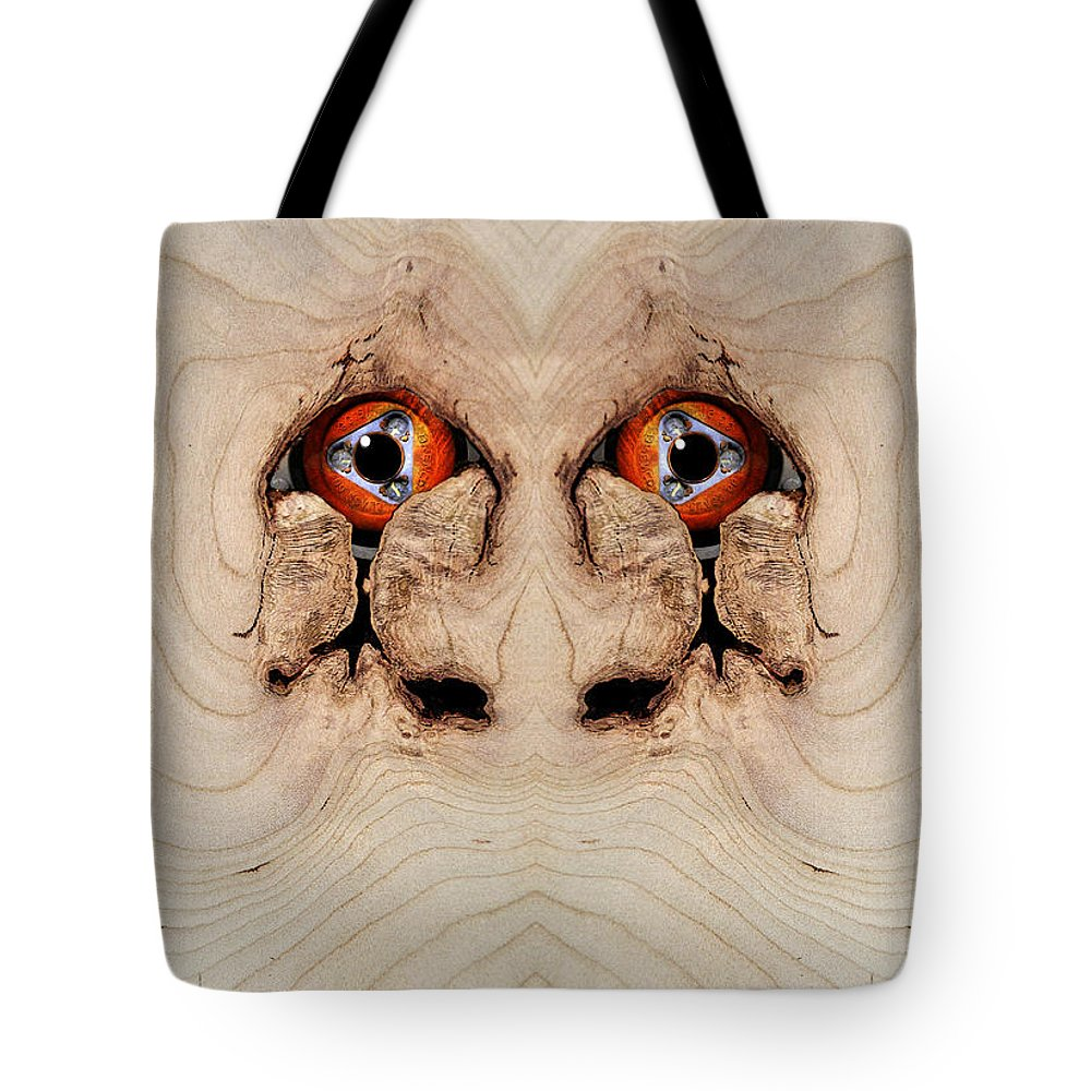 Wood Tote Bag featuring the digital art Woody 72 by Rick Mosher