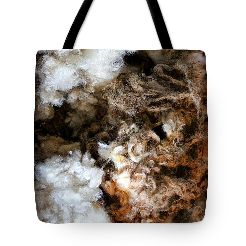 Wool Tote Bag featuring the photograph Woolshed Wool by Stefan H Unger