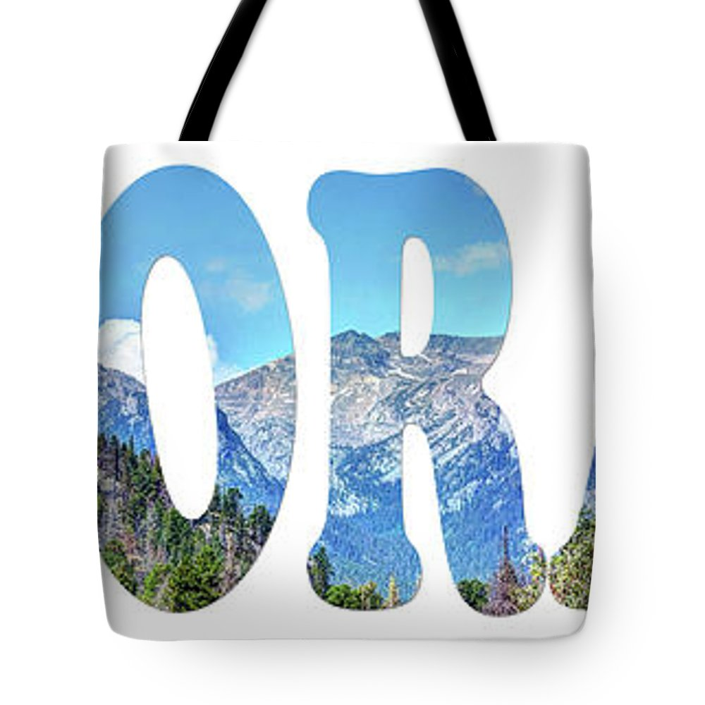 National Tote Bag featuring the photograph Word Art... Colorado by Deborah Klubertanz