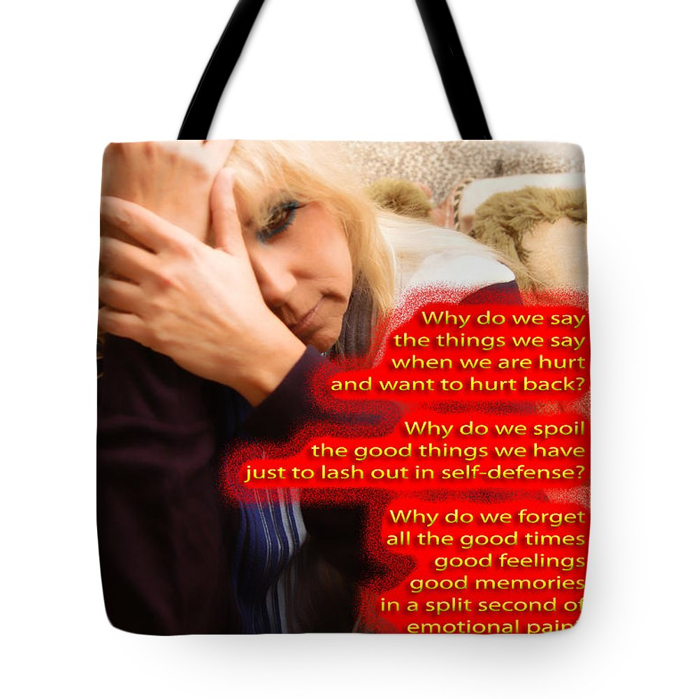 Clay Tote Bag featuring the photograph Words by Clayton Bruster