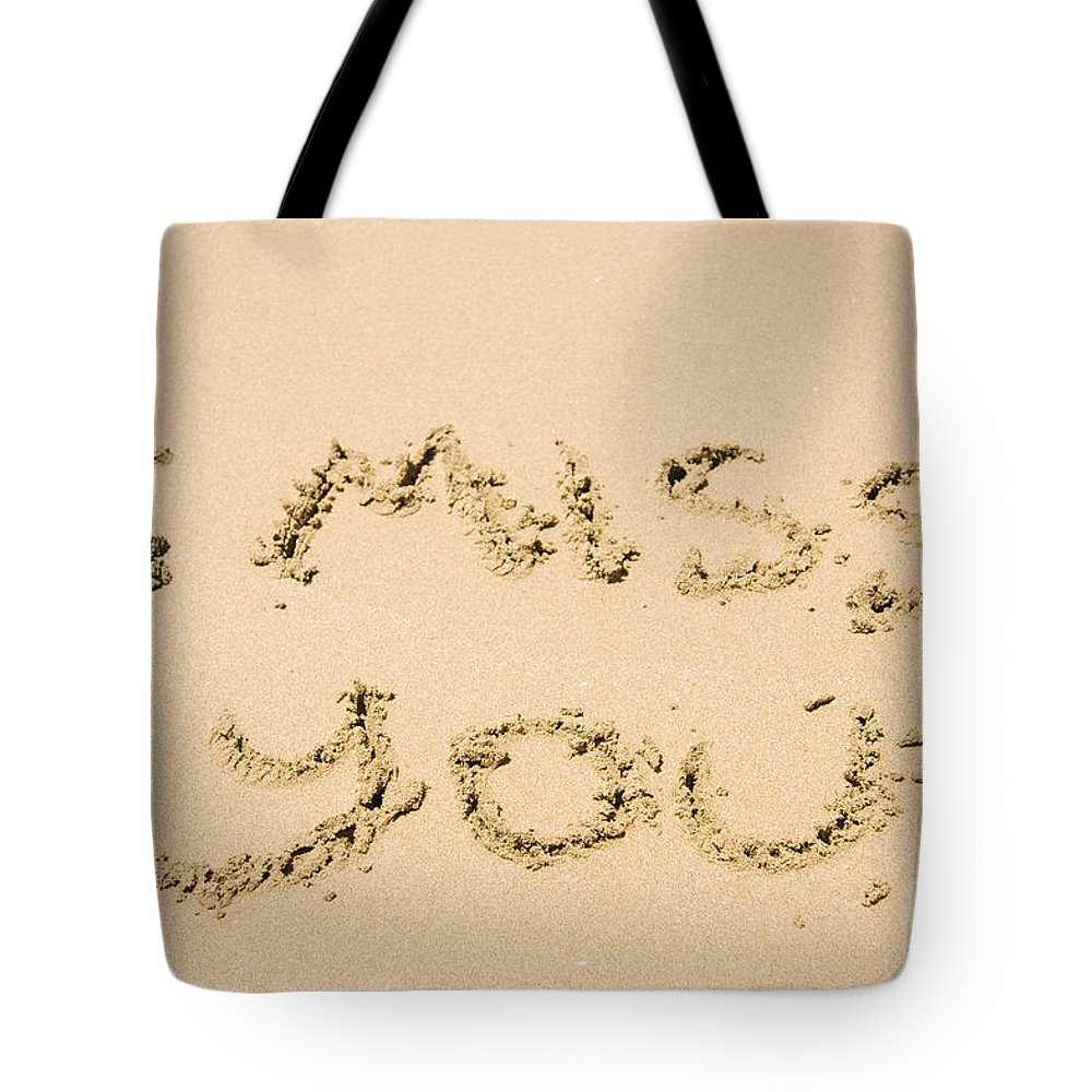 Miss Tote Bag featuring the photograph Words Of Loss by Jorgo Photography - Wall Art Gallery