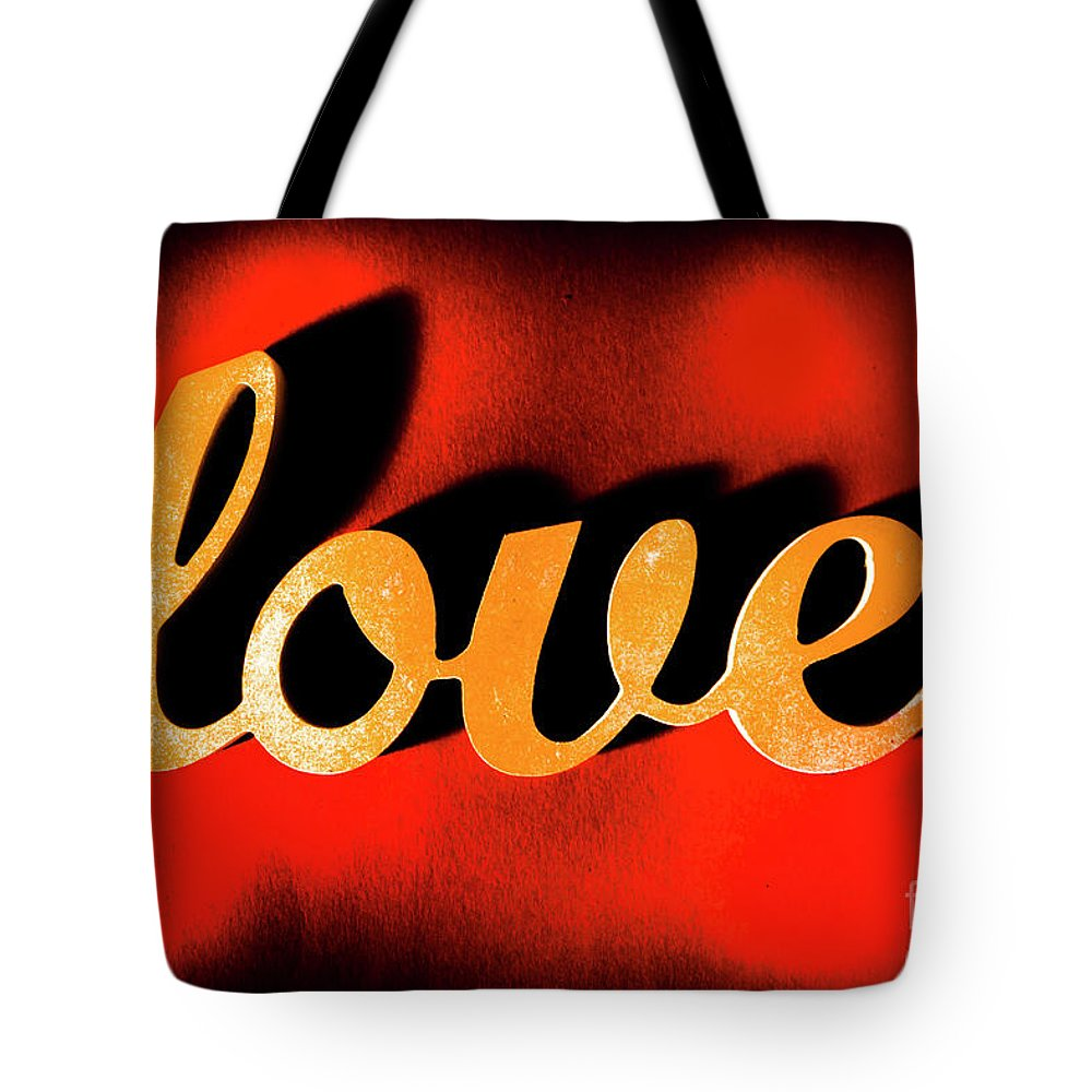 Retro Tote Bag featuring the photograph Words Of Love And Retro Romance by Jorgo Photography - Wall Art Gallery