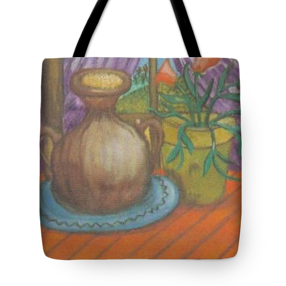 Still Life Tote Bag featuring the painting Work by Andrew Johnson