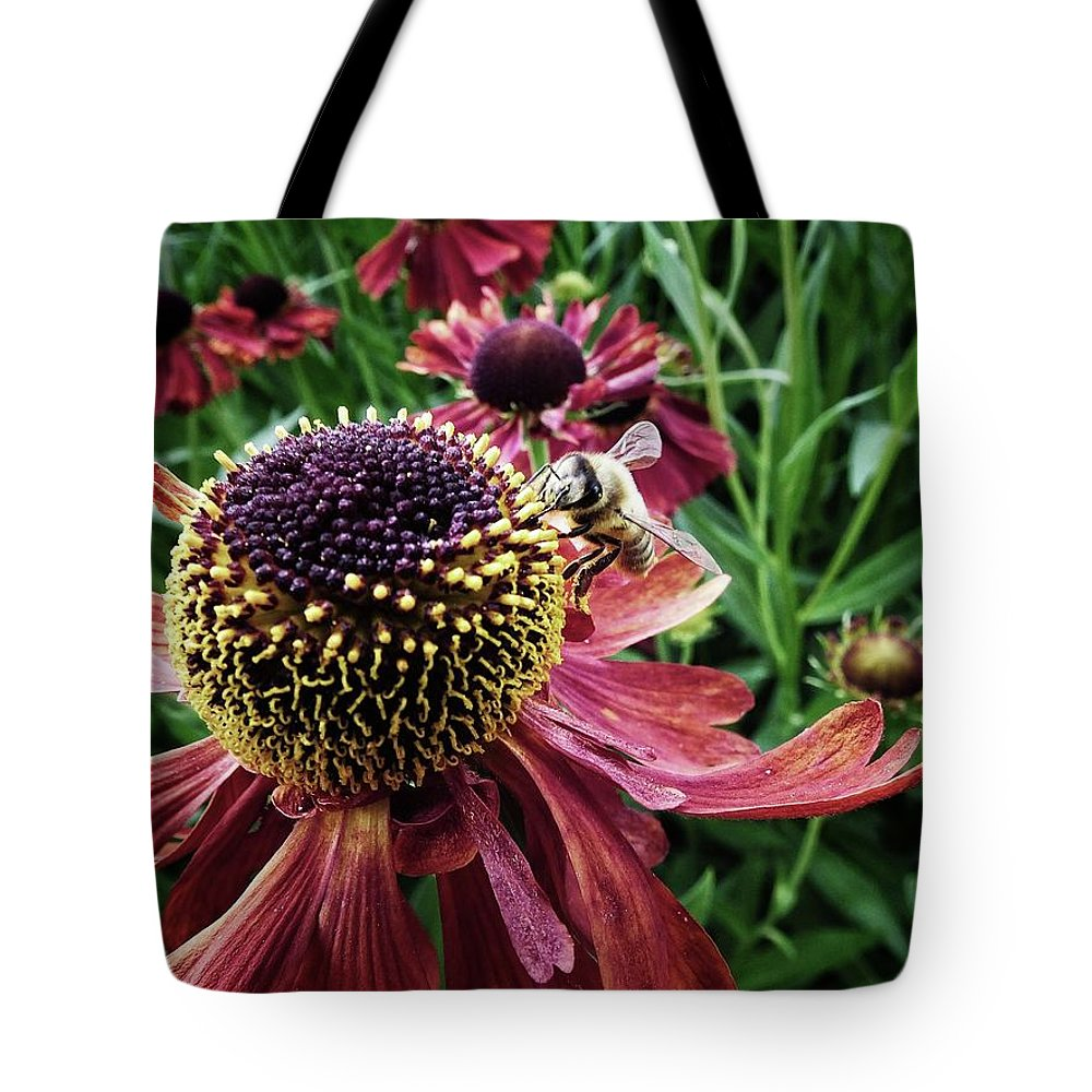 Color Tote Bag featuring the photograph Work Work Work by Karen Stahlros