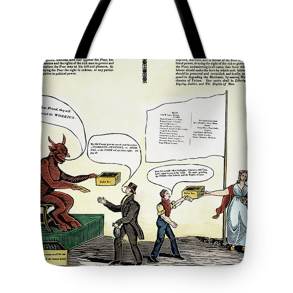 1829 Tote Bag featuring the photograph Workie Cartoon, 1829 by Granger