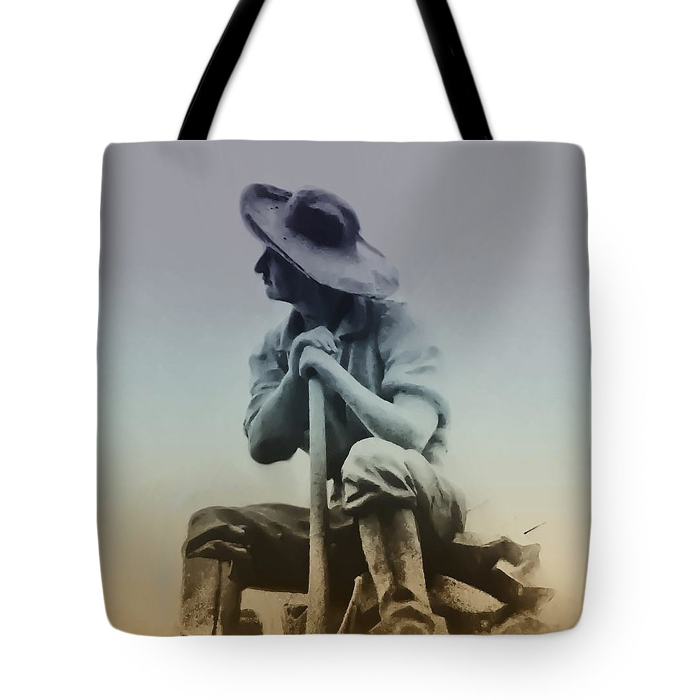 Philadelphia Tote Bag featuring the photograph Working Man by Bill Cannon