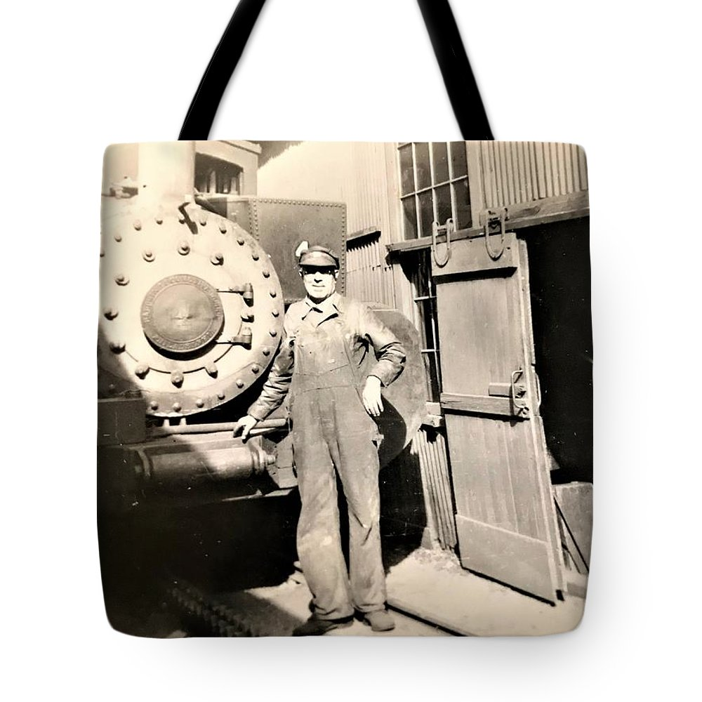 Tote Bag featuring the pyrography Working by Robert Walters