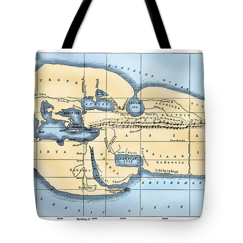 2nd Century B.c Tote Bag featuring the photograph World Map: Eratosthenes by Granger