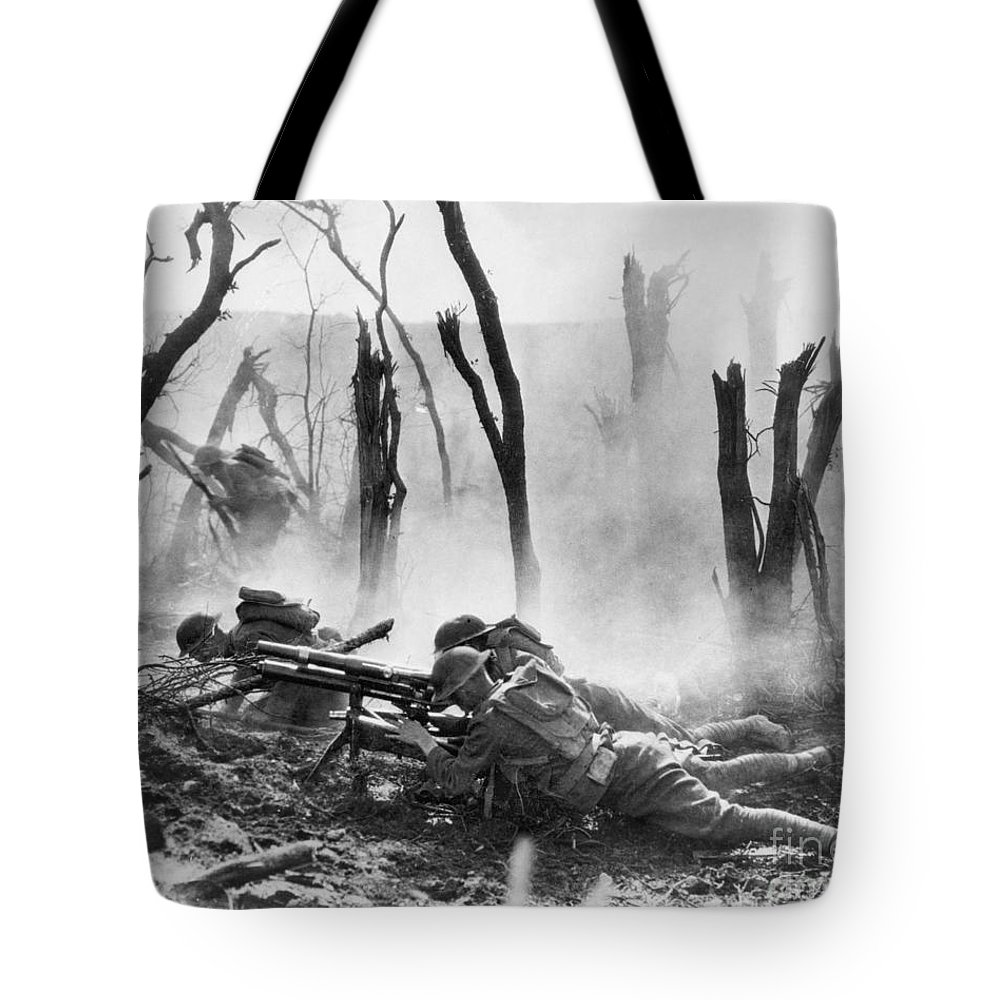 1918 Tote Bag featuring the photograph World War I: Battlefield by Granger