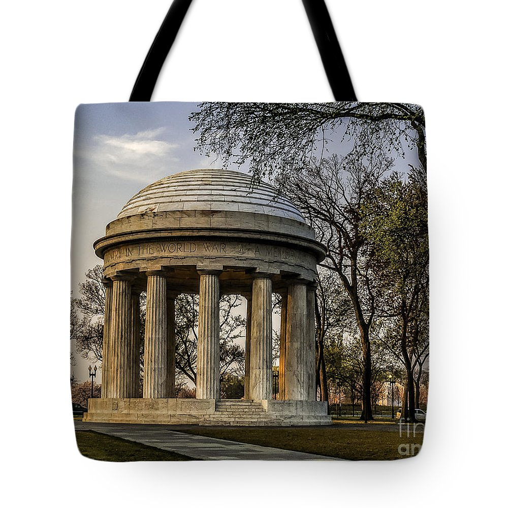 World War I Tote Bag featuring the photograph World War I Memorial by Nick Zelinsky