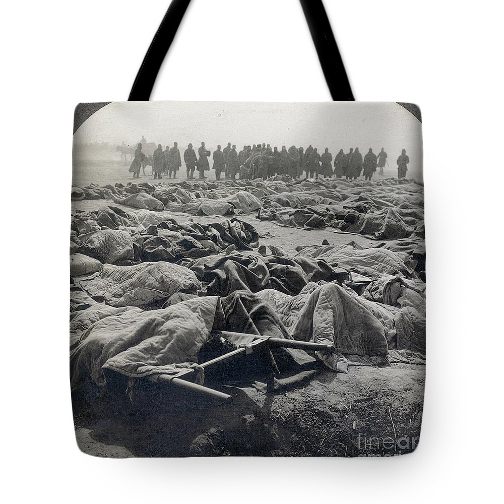 Casualty Tote Bag featuring the photograph World War I: Russian Dead by Granger