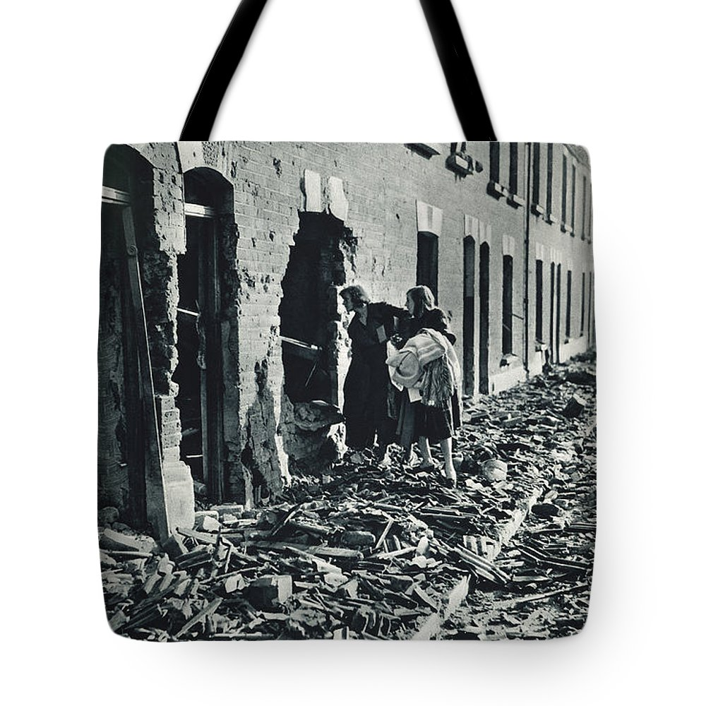 1940 Tote Bag featuring the photograph World War II: Blitz, 1940 by Granger